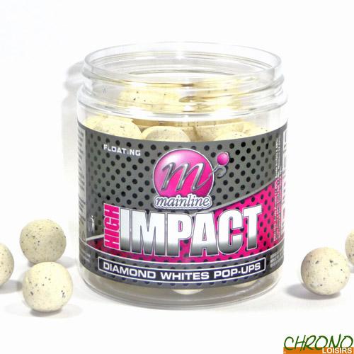 Glug Wafters Mainline Baits High Impact Diamond Whites Boilies Pop Ups