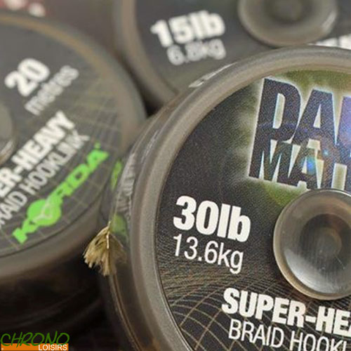 Korda Dark Matter Super Heavy Braid Hooklink 20m