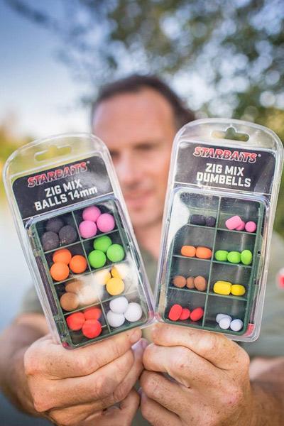 STARBAITS Zig Mix Balls 14 mm Dumbells Carpe Appât Pêche